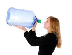 Drinking a ton of water