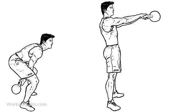 Kettlebell swings weight loss exercise