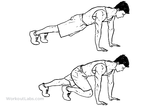 Mountain climbers weight loss exercise