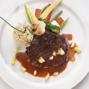 Ostrich dish