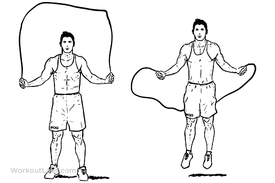 Rope_jumping weight loss exercise