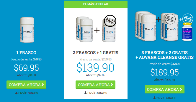 phenq price spanish